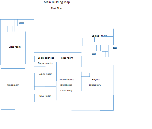 Main Building Map First Floor